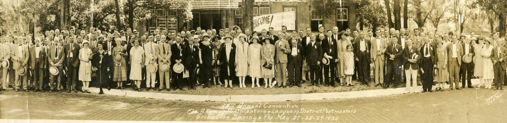 Group photo from the Postmaster Convention, 1926