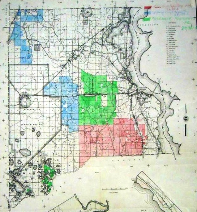 Forestry map of Clay County, 1957