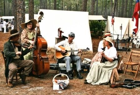 olustee string band playing outside