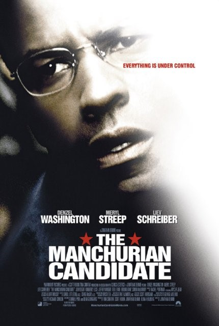 A film poster for The Manchurian Candidate